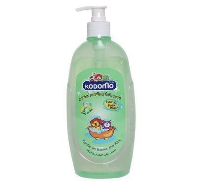 Sữa tắm gội cho bé Kodomo 400ml chiết xuất từ mầm lúa mì và tinh dầu hoa anh thảo, kết hợp Vitamin E