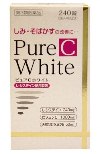 Viên uống trắng da Pure White C Nhật Bản hộp 240 viên