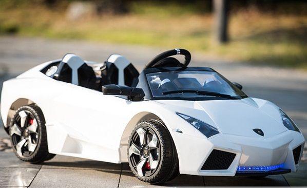Ô tô điện trẻ em 2 chỗ ngồi Lamborghini LS518T (2 động cơ) màu trắng