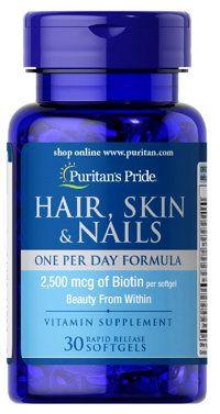 Vitamin Đẹp Da, Tóc Và Móng - Hair, Skin & Nails Puritan Pride