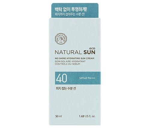 Kem chống nắng The Face Shop Natural Sun No Shine Hydrating Sun Cream SPF40 PA+++ dành cho da dầu, da hỗn hợp