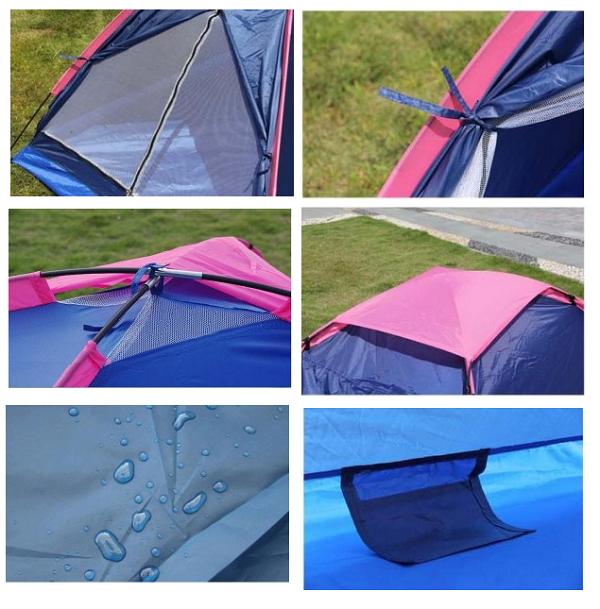 Lều cắm trại 2 người vải 2 lớp thoáng mát giá rẻ