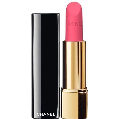 Son Chanel Rouge Allure Velvet 42 L'eclatante hồng baby khá nhẹ nhàng và quyến rũ