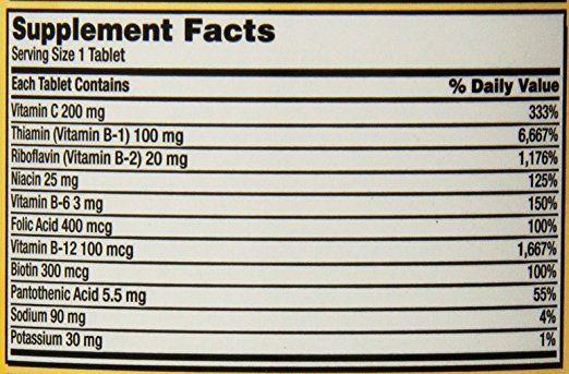 Thành phần của Vitamin B tổng hợp Super B-Complex