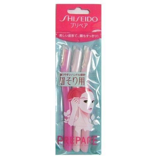 Set 3 dao cạo lông mày Shiseido an toàn, dễ sử dụng