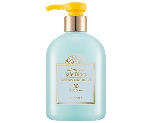 Kem chống nắng Missha All Around Safe Block Total Moisture Sun Gel SPF30 PA+++ dưỡng ẩm cho mặt và làn da toàn thân