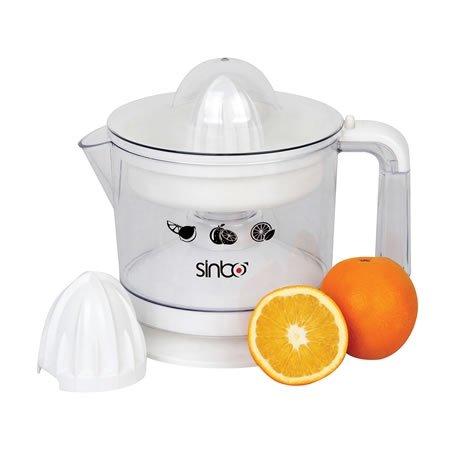 Máy vắt cam Sinbo SJ-3141 được thiết kế với 2 đầu vắt to và nhỏ, sử dụng thích hợp với mọi kích thước của quả cam