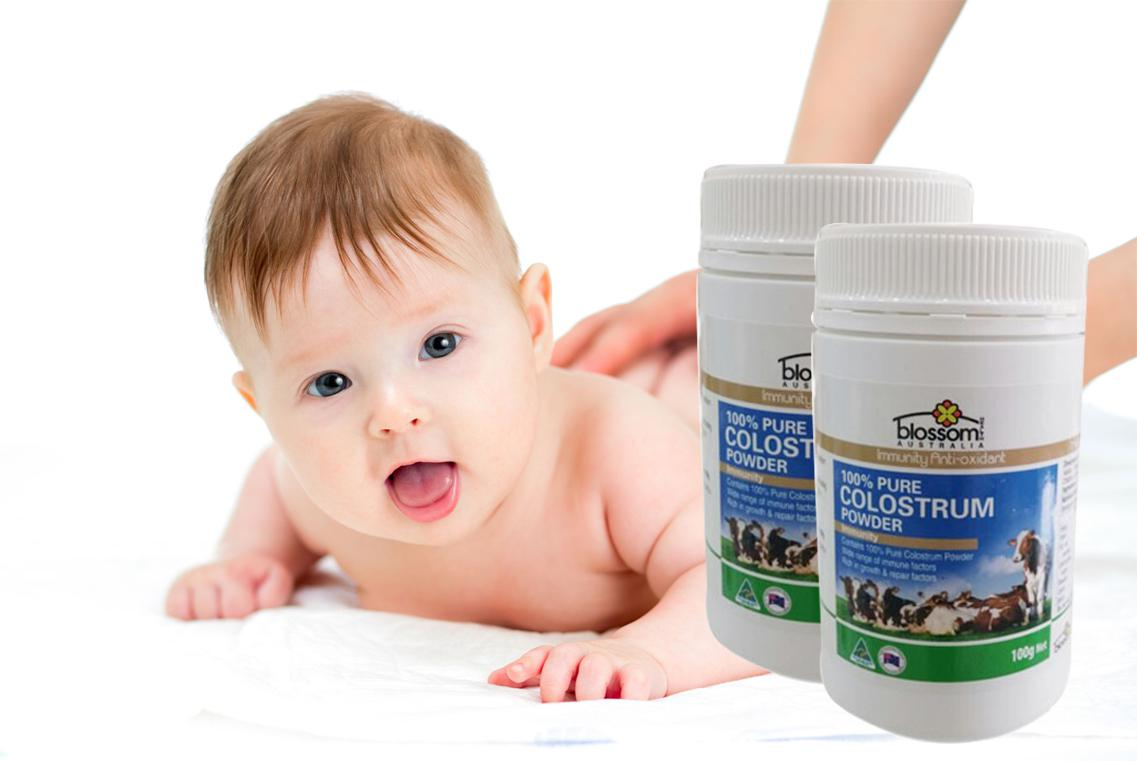Sữa non Blossom Colostrum Powder 100% Pure giàu kháng thể giúp tăng cường và duy trì hệ thống miễn dịch
