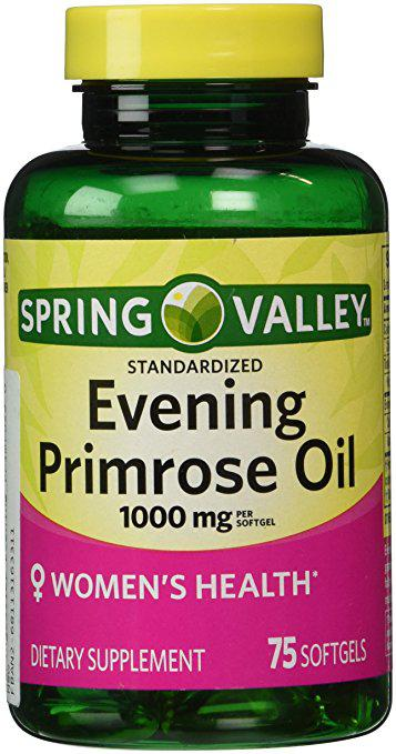 Tinh dầu hoa anh thảo Spring Valley Evening Primrose Oil 75 viên 1000mg