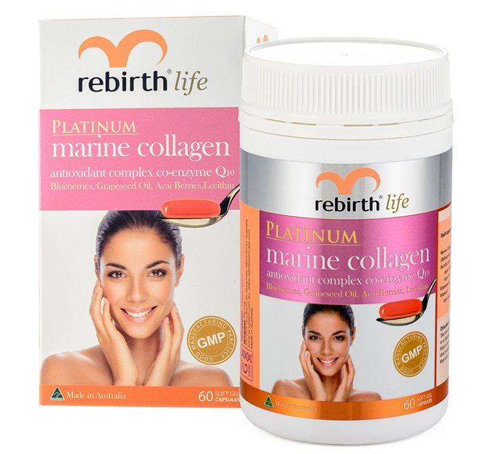 Viên uống Collagen chống lão hóa Platinum Marine Collagen Rebirth Life của Úc