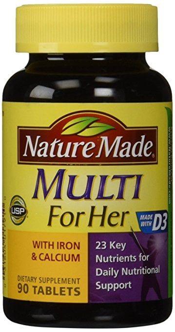 Vitamin tổng hợp cho nữ Nature Made Multi For Her hộp 90 viên