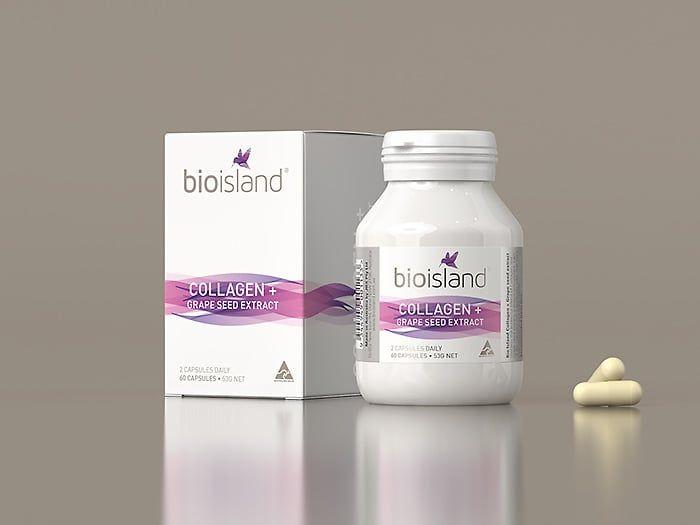 Viên uống Collagen Bio Island hộp 60 viên của Úc