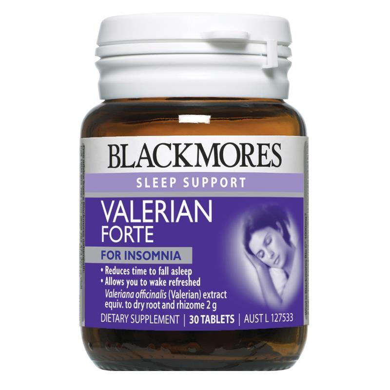 Viên uống hỗ trợ giấc ngủ Blackmores Valerian Forte 2000mg hộp 30 viên