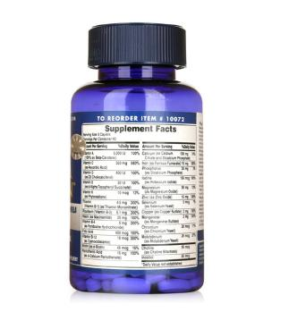 Nhãn sản phẩm Mega Vitamin Multivitamins For Teens Puritan's Pride hộp 120 viên