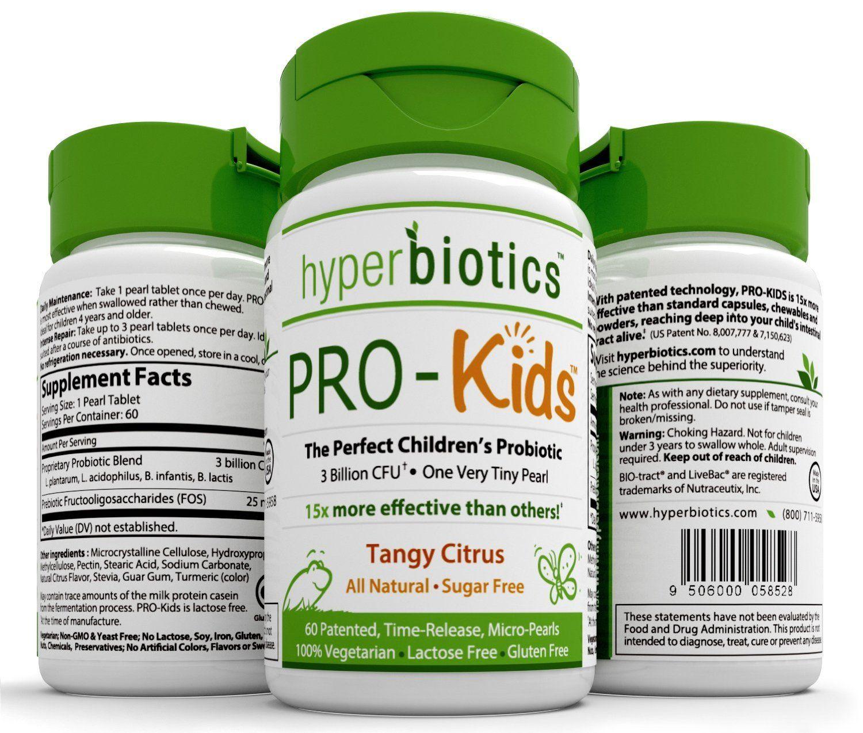 Nhãn sản phẩm Men vi sinh Pro Kids Probiotics hỗ trợ tiêu hóa trẻ em