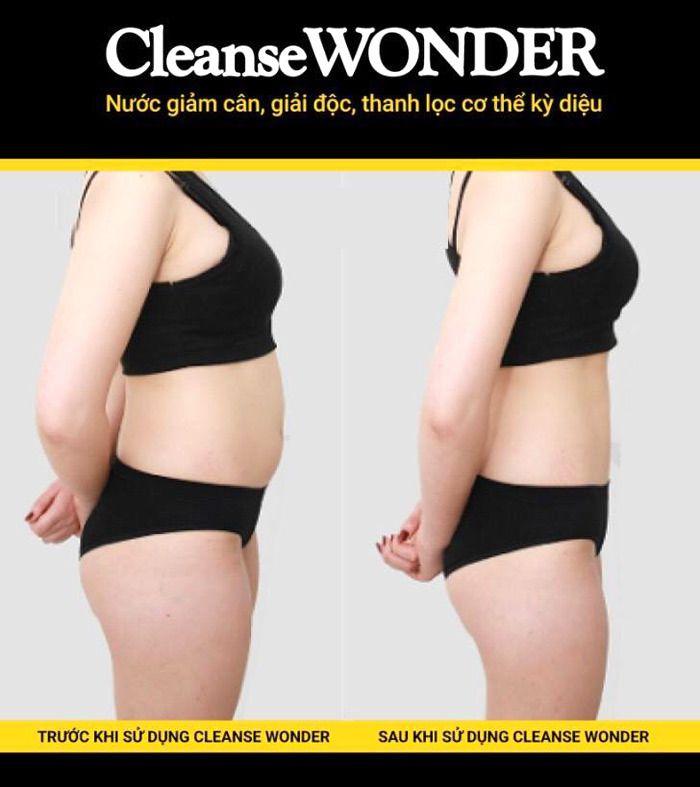 Hiệu quả sử dụng Cleanse Wonder giảm cân, thanh lọc cơ thể