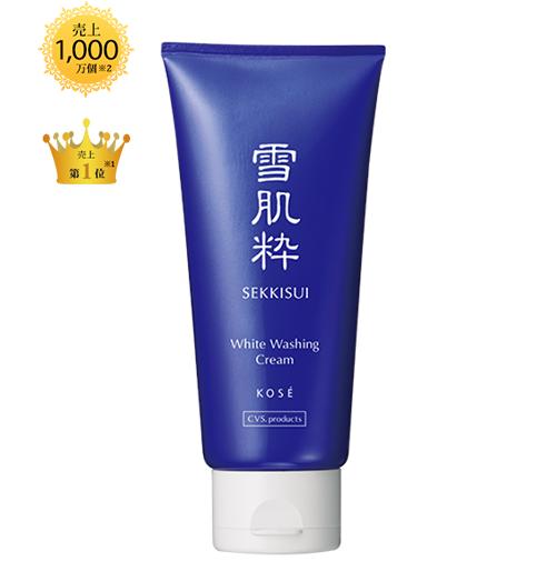Sữa rửa mặt Kose Sekkisui White Washing Cream 80g dạng kem chiết xuất đậu tương lên men tối đa hóa hiệu quả dưỡng ẩm