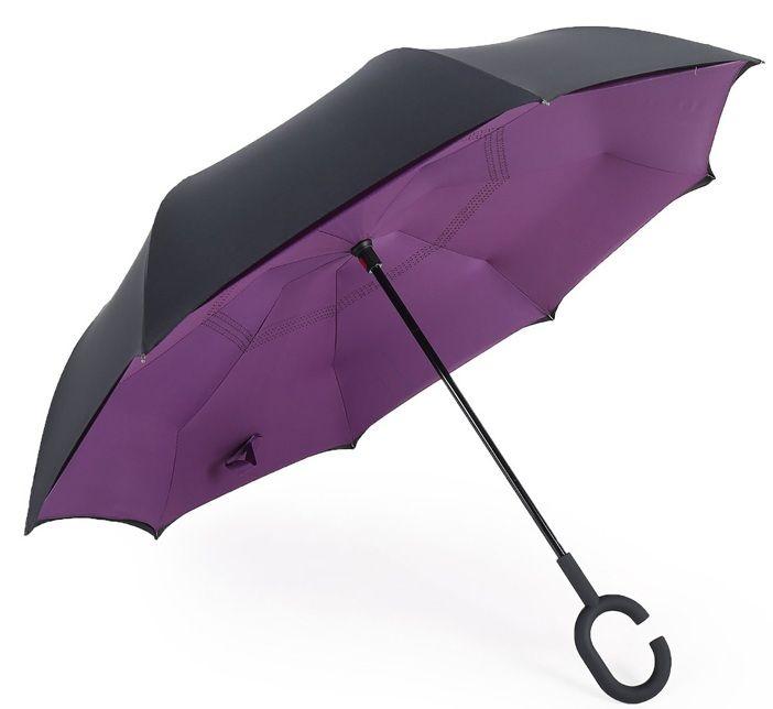 Ô gấp ngược Kazbrella màu tím - đen