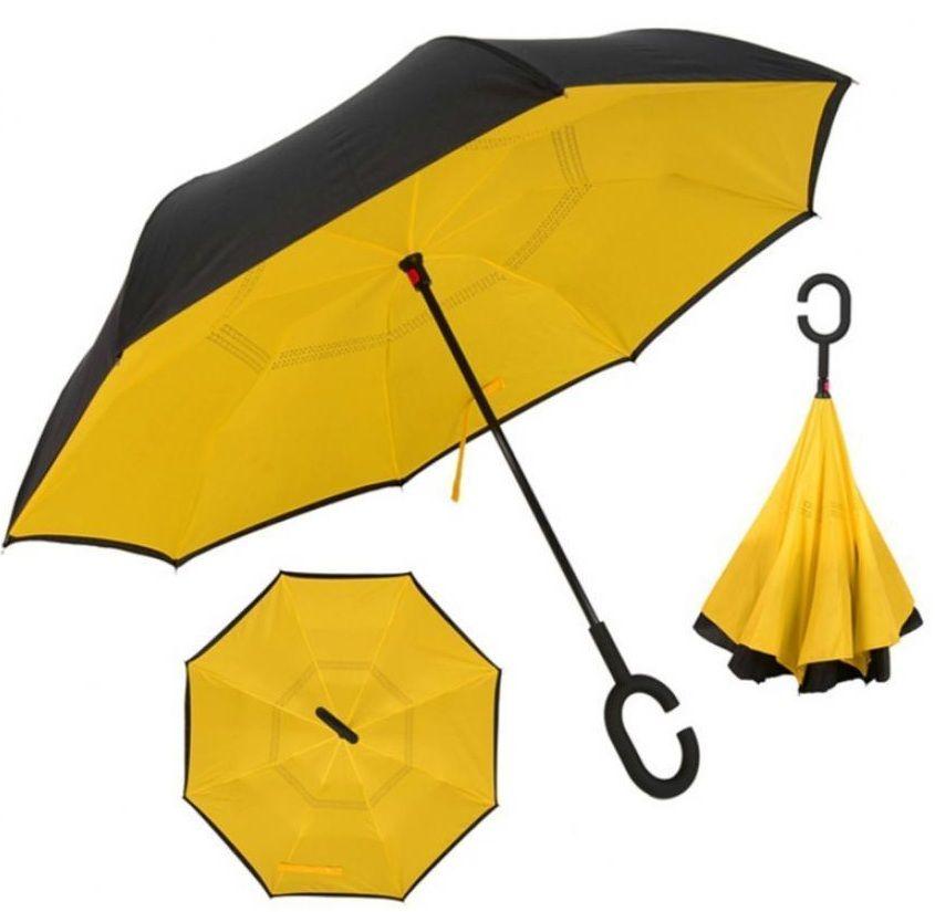 Ô gấp ngược Kazbrella màu vàng - đen