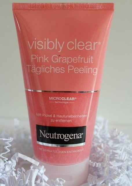 Sữa rửa mặt tẩy da chết Neutrogena visibly clear pink