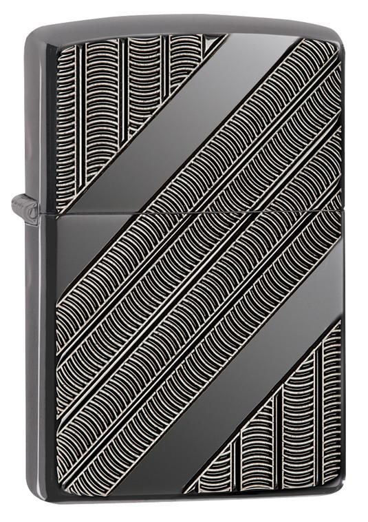 Bật lửa Zippo 29422 armor coils pocket lighter black ice
