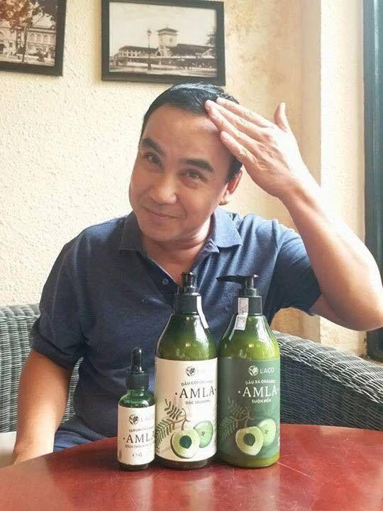 MC, diễn viên Quyền Linh rất yêu thích sử dụng bộ sản phẩm dầu gội, xả và tinh chất Amla