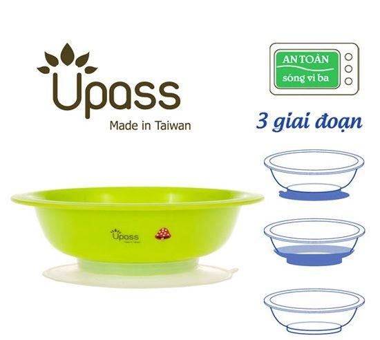 Bát ăn dặm Upass UP5024YL màu xanh lá