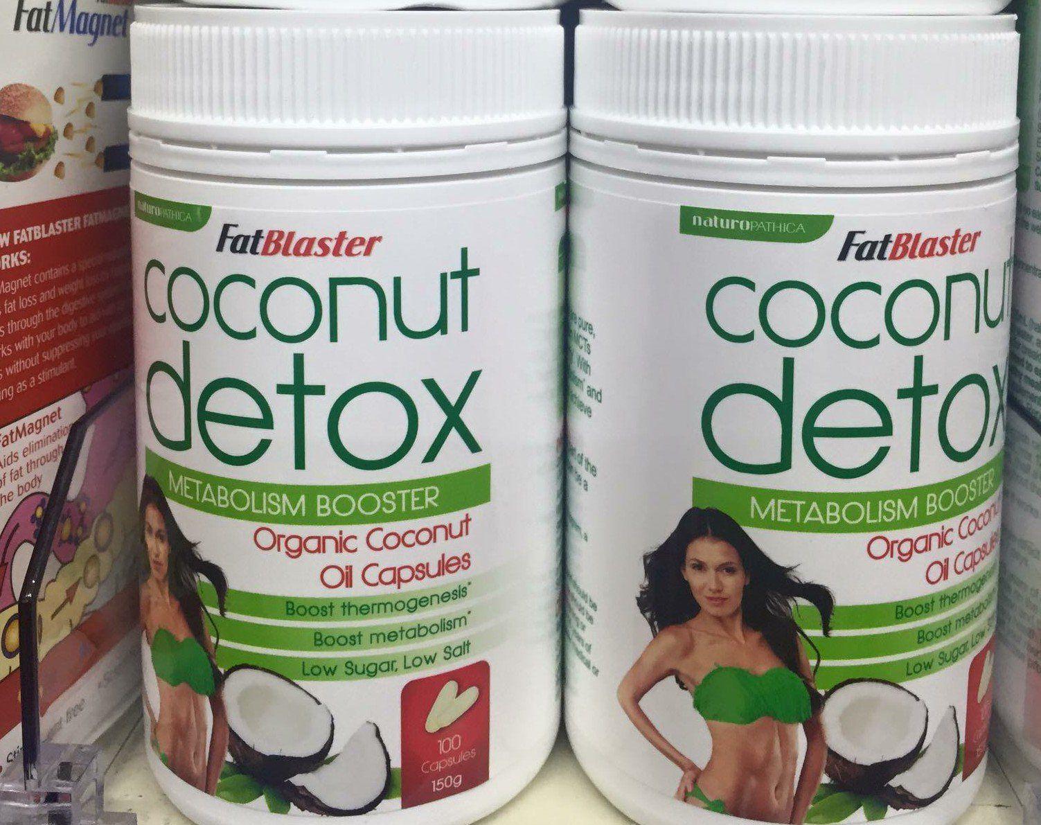 Viên uống giảm cân Naturopathica Fatblaster Coconut Detox - sản phẩm giảm cân hiệu quả từ Úc