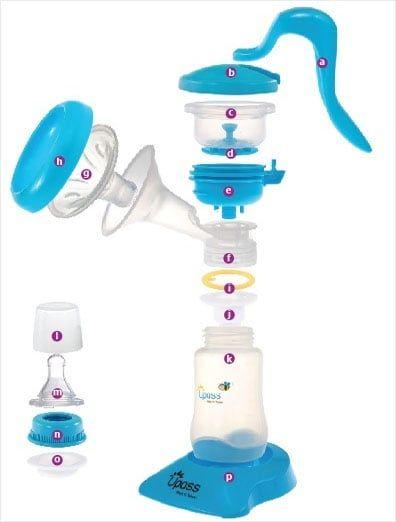Các bộ phận máy hút sữa Upass UP1637