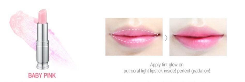 Son dưỡng Sweet glam tint glow màu hồng nhạt (Baby Pink)