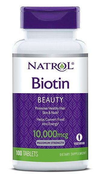 Viên Uống Mọc Tóc Natrol Biotin 10000 Mcg Của Mỹ 100 Viên