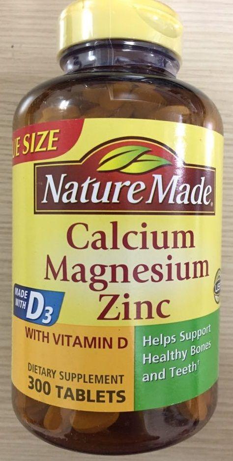 Viên uống Nature Made Calcium Magnesium Zinc With Vitamin D3 1