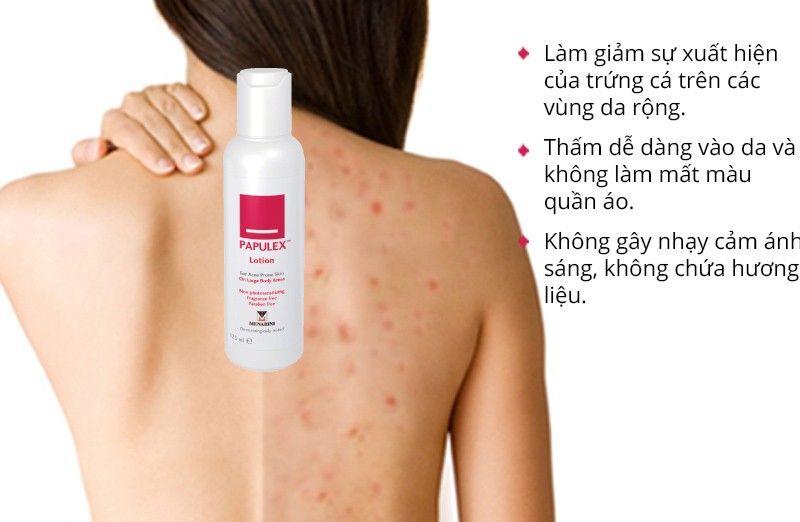 Thành phần cực tốt, công thức đặc chế độc quyền giúp loại bỏ mụn tại các vùng da rộng