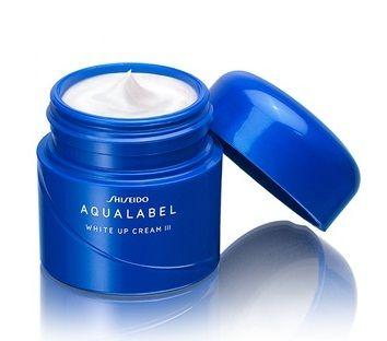 Kem dưỡng trắng da Shiseido Aqualabel White Up Cream màu xanh