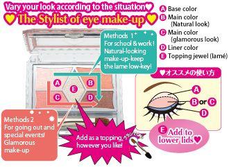 Cách sử dụng Phấn mắt Canmake