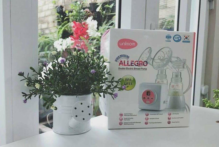 Máy hút sữa điện đôi Unimom Premium Allegro UM872002 thiết kế nhỏ gọn, sang trọng, tính năng tiên tiến