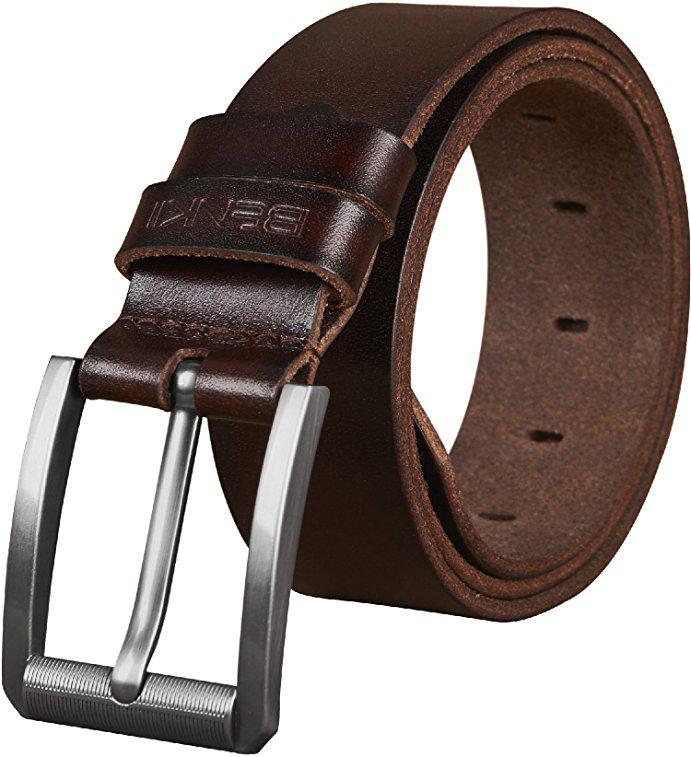 Thắt lưng nam Benkii Leather Belt for Dress & Jeans 2