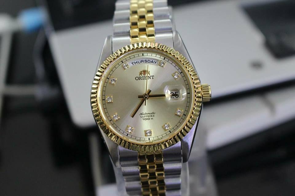Đồng hồ Orient FEV0J002CY dây demi 1
