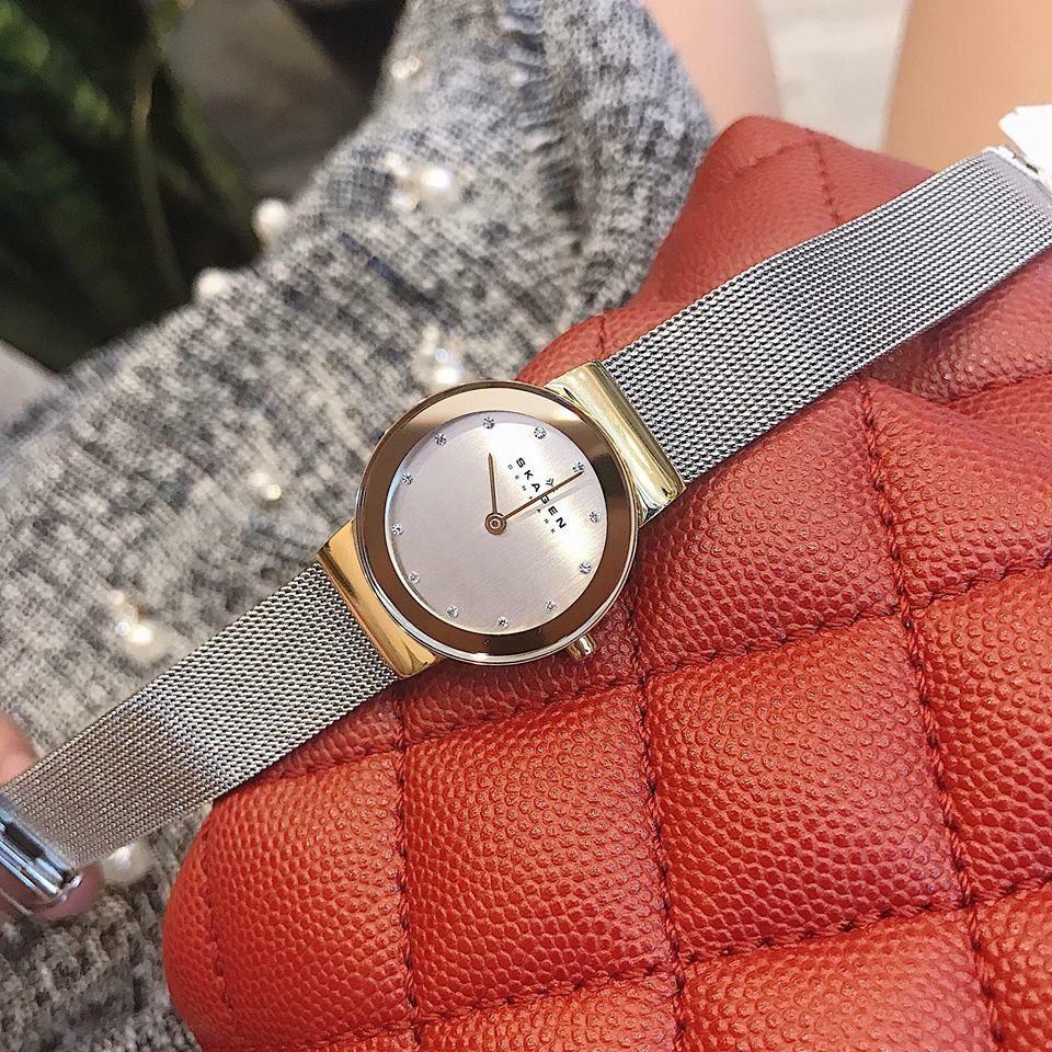 Cận cảnh chiếc đồng hồ Skagen nữ 358SGSCD