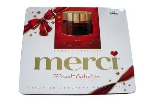 Kẹo Socola Merci hộp thiếc 500g của Đức 1