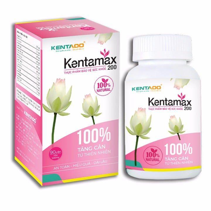 Viên uống tăng cân Kentamax 200 dành cho phụ nữ sau sinh và trẻ em trên 5 tuổ