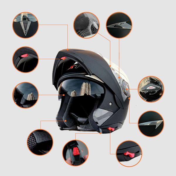 Lỗ thoát khí, thông gió, quai cài và các chi tiết của mũ GXT01 chi tiết