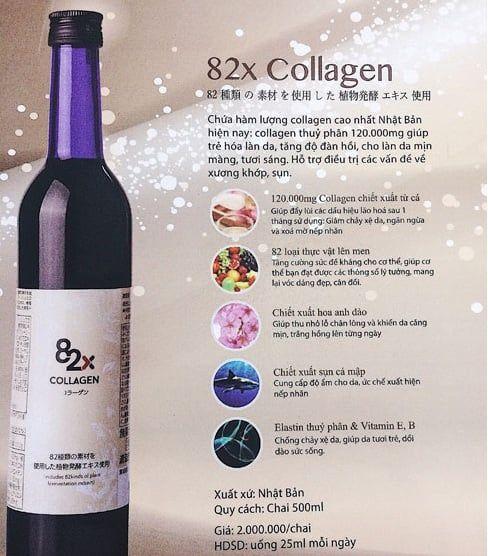 Collagen 82x 120.000mg chứa những thành phần tốt nhất giúp chống lão hóa hiệu quả