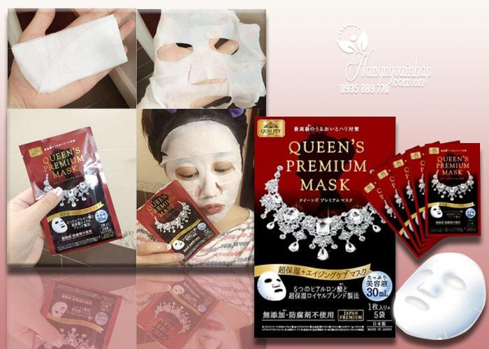 Mặt nạ Quality First Queen's Premium Mask High-Moisture Aging Care đỏ cấp ẩm