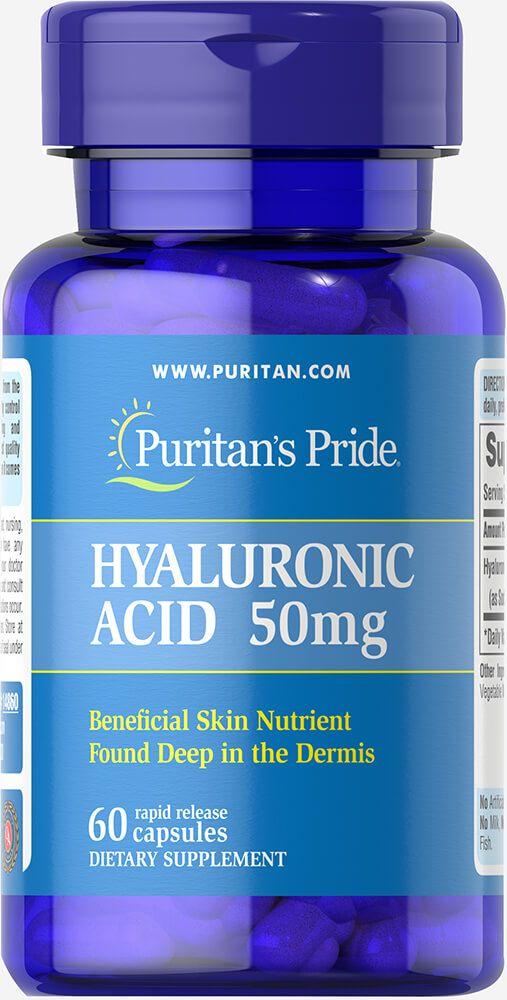 Viên uống cấp nước Puritan's Pride Hyaluronic Acid 50 mg 1