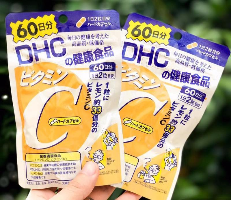 DHC vitamin c sáng da, thúc đẩy sự hình thành collagen, tăng cường sức khỏe