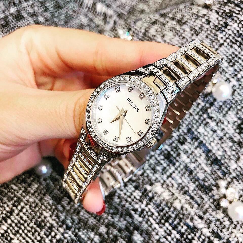 Đồng hồ Bulova 98L198 đính đá tinh xảo cho nữ 1