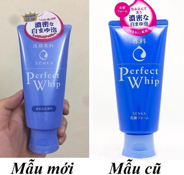 Sữa rửa mặt Shiseido Perfect whip mẫu mới và mẫu cũ