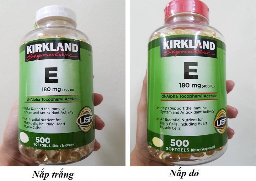 Vitamin E 400 IU 500 viên Kirkland của Mỹ - Đẹp da, làm chậm lão hóa 1
