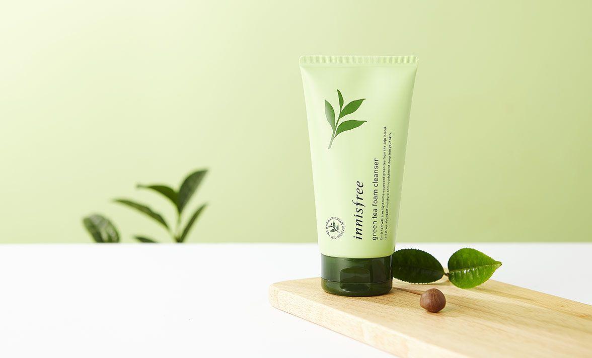 Sữa rửa mặt Innisfree trà xanh Green tea foam cleanser phiên bản 2018